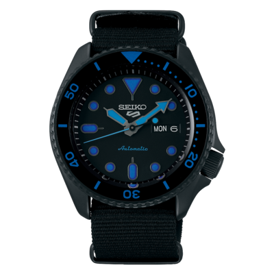 """Seiko 5 Sports Black Dial 43MM """" Street Style """" Automatic SRPD81K"""