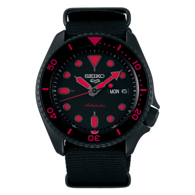 """Seiko 5 Sports Black Dial 43MM """" Street Style """" Automatic SRPD83K"""