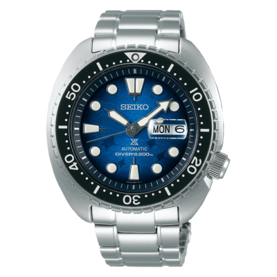"""Seiko Prospex Blue Dial 45MM Save the Ocean Manta Ray """" Turtle """" Automatic SRPE39K1"""