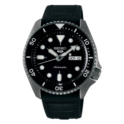"""Seiko 5 Sports Black Dial 43MM """" Specialist Style """" Automatic SRPD65K"""