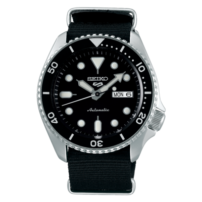"""Seiko 5 Sports Black Dial 43MM """" Sports Style """" Automatic SRPD55K"""