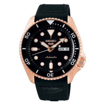 """Seiko 5 Sports Black Dial 43MM """" Specialist Style """" Automatic SRPD76K"""