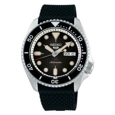 """Seiko 5 Sports Black Dial 43MM """" Suits Style """" Automatic SRPD73K"""