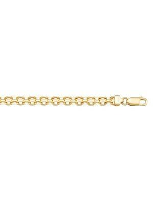 Yellow Gold Solid Bismark Link Anklet