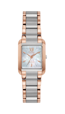 Bianca White Mother of Pearl Dial 28MM Eco-Drive EW5556-52D