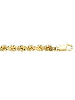 Yellow Gold Hollow Rope Chain 10KT, 14KT & 18KT