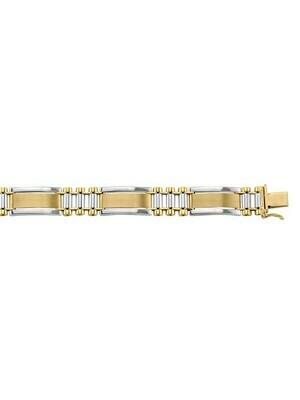 Yellow & White Gold Two Tone Fancy Link Bracelet 10KT, 14KT & 18KT