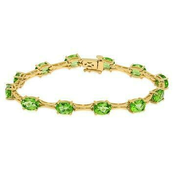 Oval Emerald Bracelet Yellow Gold