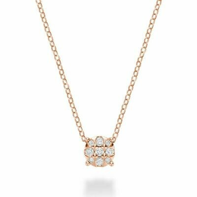 Illusion Diamond Pendant Rose Gold