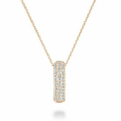 Diamond Pave Pendant 0.10 CTDI Rose Gold