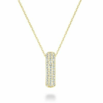 Diamond Pave Pendant 0.10 CTDI Yellow Gold