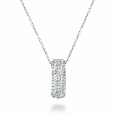 Diamond Pave Pendant 0.28 CTDI White  Gold