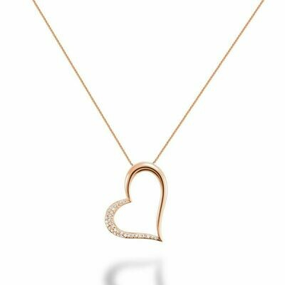 Diamond Heart Pendant 0.10CTDI Rose Gold