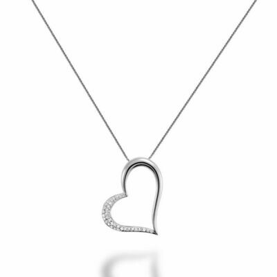 Diamond Heart Pendant 0.17CTDI White Gold