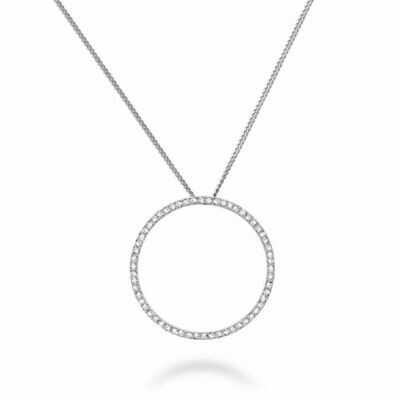 Circle Of Life Diamond Pendant 0.12CTDI White Gold