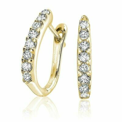 Diamond Huggie Earrings 0.50CTDI Yellow Gold