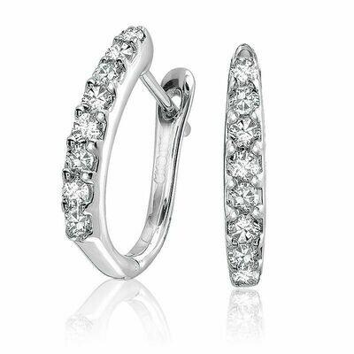 Diamond Huggie Earrings 0.26CTDI White Gold