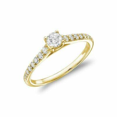 Diamond Engagement Ring 0.75CTDI Yellow Gold