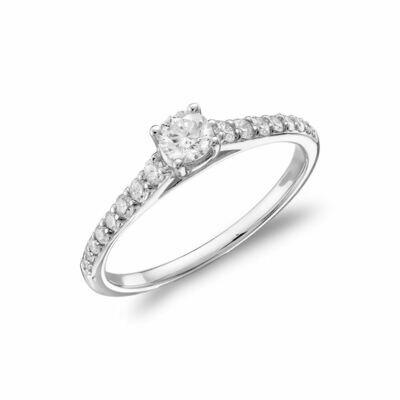 Diamond Engagement Ring 0.35CTDI White Gold
