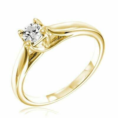 Solitaire Diamond Ring 0.75CTDI Yellow Gold