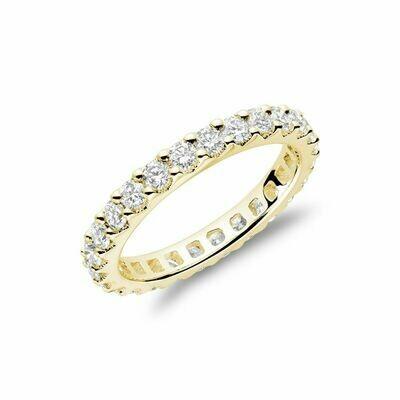 Shared Claw Diamond Eternity Band 14KT Yellow Gold 0.50CTDI