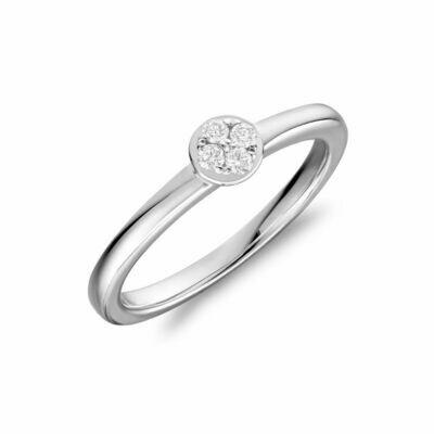 Diamond Cluster Ring 14KT White Gold 0.10TDI
