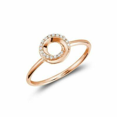 Diamond Swirl Ring 10KT Rose Gold 0.05CTDI