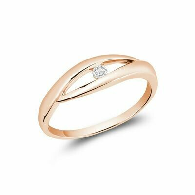 Solitaire Diamond Fashion Ring Rose Gold