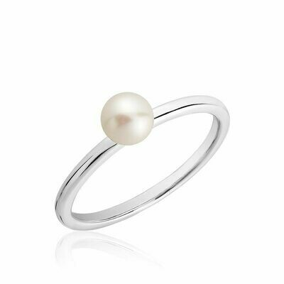 Cultured Freshwater Pearl Ring White Gold