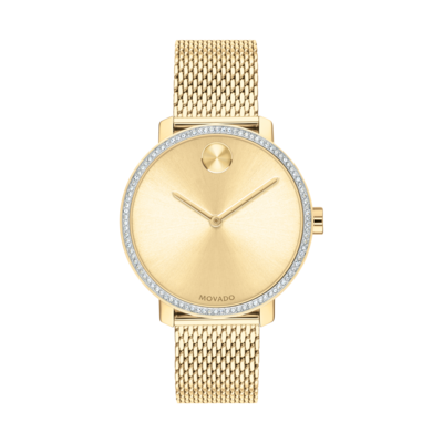 Bold Shimmer Ladies Yellow Gold Watch 3600656