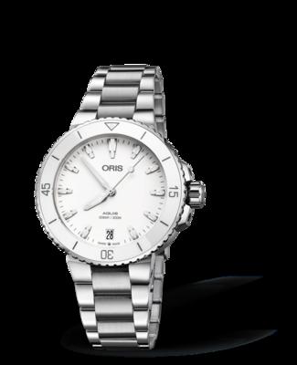 Oris Aquis Date White Dial 37MM Automatic