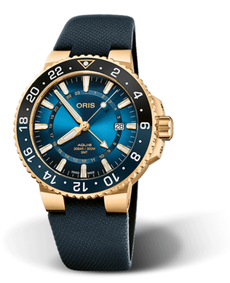 Oris Carysfort Reef Gold Limited Edition Blue Dial 44MM Automatic