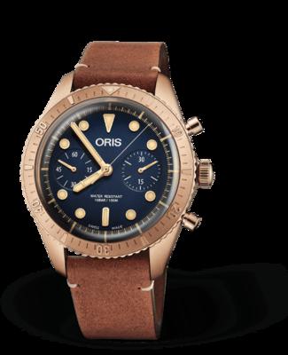 Oris Carl Brashear Chronograph Limited Edition 2020 Blue Dial 43MM Automatic