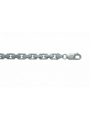 White Gold Oval Cable Link 14KT