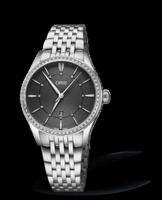 Oris Artelier Date Diamonds Grey Dial 33MM Automatic