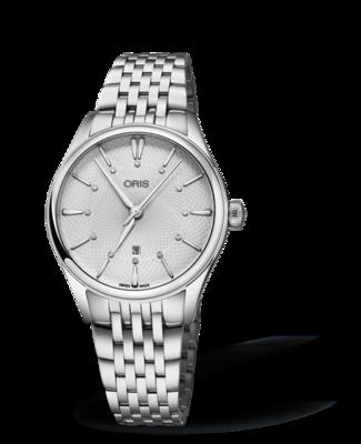 Oris Artelier Date Diamonds Silver Dial 33MM Automatic