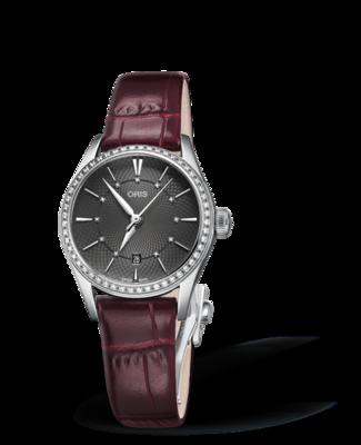 Oris Artelier Date Diamonds Grey Dial 28MM Automatic