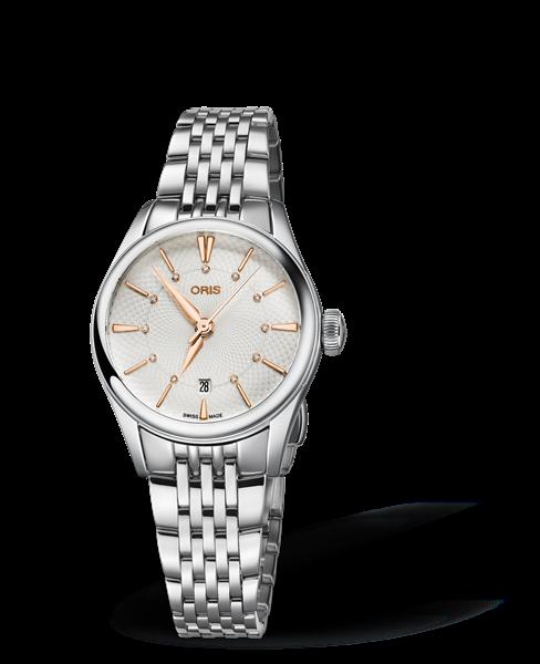 Oris Artelier Date Diamonds Silver Dial 28MM Automatic