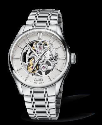 Oris Artelier Skeleton Silver Dial 40MM Automatic