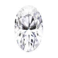 Forever One 4.39CTW Elongated Oval Near-Colorless Moissanite Gemstone