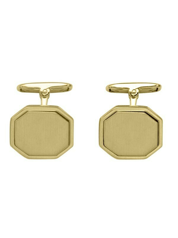 Yellow Gold Octgonal Cufflinks 18KT