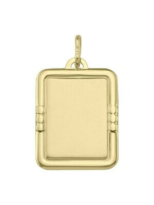 Yellow Gold Fancy Tag Pendant 14KT & 18KT