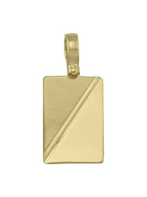 Yellow Gold Fancy Tag Pendant 10KT