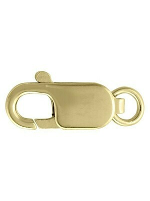 Yellow Gold Lobster Clasp Finding 10KT, 14KT & 18KT