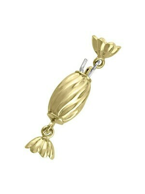 Yellow Gold Fancy Pearl Clasp Finding 18KT
