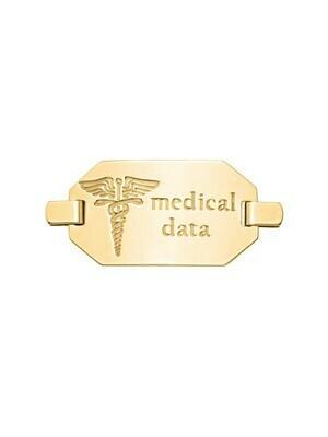 Yelllow Gold Medical Data Plate 10KT & 14KT