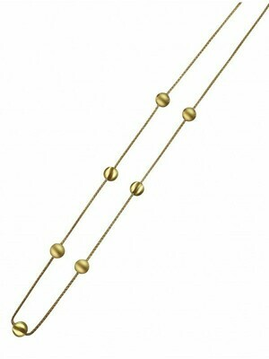 """Yellow Gold 28"""" Fancy Necklace 14KT"""