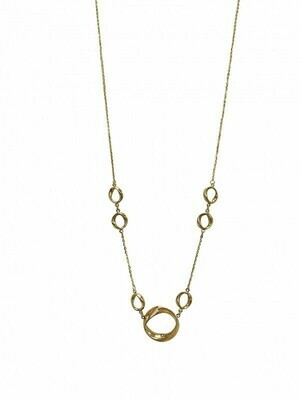"""Yellow Gold """"Modern Circle"""" Necklace 14KT"""
