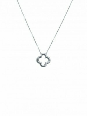 White Gold Clover Necklace 14KT
