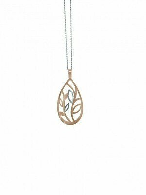 Pink & White Gold Two Tone Necklace 14KT